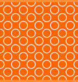 tile pattern with white polka dots on orange vector image vector image