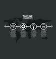 timeline infographic world internet solution vector image
