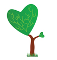 tree with a crown in the shape of heart vector image vector image