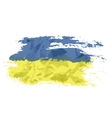 Ukrainian flag painted by brush hand paints Art vector image