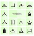 wardrobe icons vector image vector image