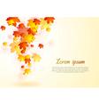 Elegant autumn background vector image