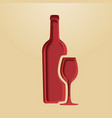 wine logo poster modern styled vector image