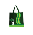 woman purse green vector image