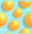 3d balls on blue background vector image vector image