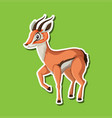 a gazelle sticker character vector image vector image