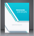 abstract business brochure flyer vector image vector image