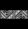 abstract tribal art tattoo border vector image