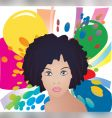 Afro lady vector image vector image