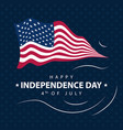 america independence day design greeting card vector image