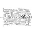 animal control text word cloud concept vector image vector image
