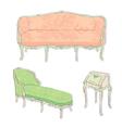 antique rococo sofa vector image vector image