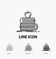 back to school school student books apple icon in vector image