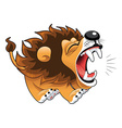 Barking lion vector image