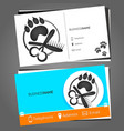 business card for a hairdresser for pets vector image