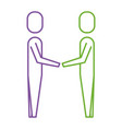 business men hands shake teamwork vector image