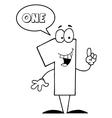 Cartoon digits vector image vector image