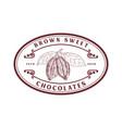 chocolate company logo label vector image
