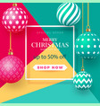 christmas bright multi-colored baubles with vector image vector image