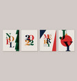 christmas cards flyers posters 2022 new year vector image