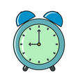clock cartoon icon isolated on a white background vector image