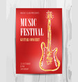 club music concert poster vector image vector image