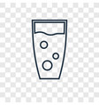 Cocktail concept linear icon isolated on