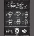 coffee menu design the coffee drinks infographics vector image vector image