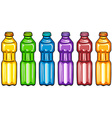 Color bottles vector image vector image