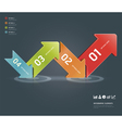 colorful arrow number options banner template vector image vector image