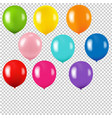 colorful balloon isolated transparent background vector image vector image
