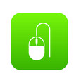 computer mouse icon digital green vector image