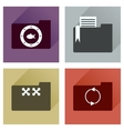 Concept of flat icons with long shadow folder