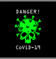 coronavirus logotype image a vector image vector image