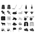 country scotland blackmonochrome icons in set vector image vector image