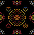 dark bright background cross stitch for vector image vector image