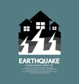 Earthquake Effect To Home vector image vector image