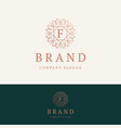 f brand logo vector image vector image