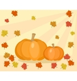 Fall with pumpkins and leaves vector image vector image