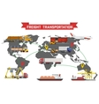 Freight Transport and Packaging Infographics vector image vector image