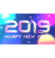 galaxy shining 2019 new year background vector image