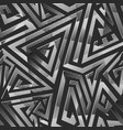 geometric seamless pattern with chrome effect vector image