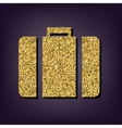 Golden style icon on perple background vector image
