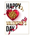 Happy Valentines Day card template with heart and vector image vector image