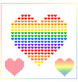 heart icon background for lgbt love concept with vector image