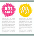 hot burn sale best price choice set label poster vector image