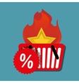 hot deal basket shop discount vector image