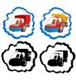 Icons trucks vector image