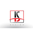 is i s logo letters with red and black colors and vector image vector image
