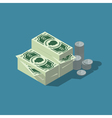 Isometric cash vector image